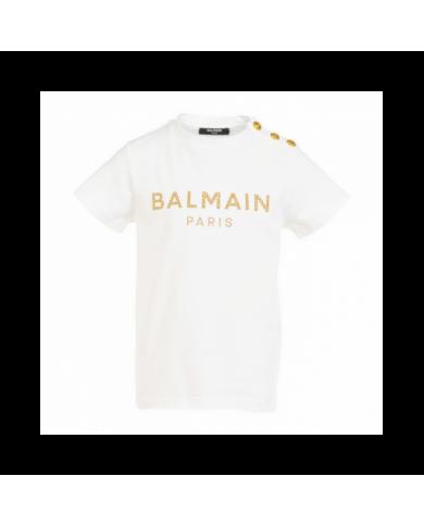 Pantalone bianco con logo